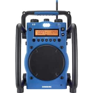 AM/FM Ultra Rugged Digital Tuning Radio in Blue
