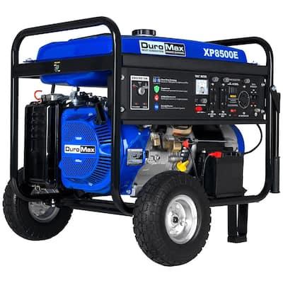 8500-Watt Electric Start Gasoline Powered Portable Generator with Wheel Kit