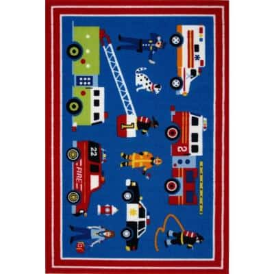 Olive Kids Heroes Multi Colored 3 ft. x 5 ft. Area Rug