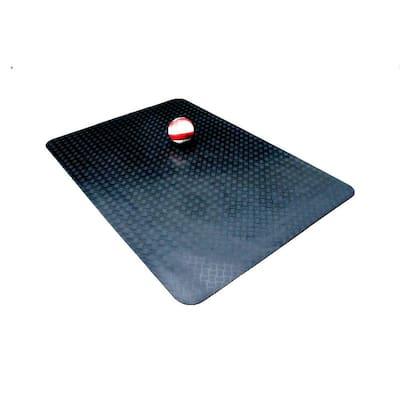 5 ft. x 7 ft. Black Commercial/Residential Rubber Garage Matting