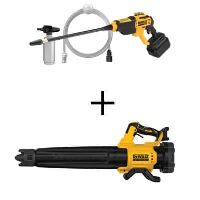 20-Volt Max 550 PSI, 1.0 GPM Cold Water Cordless Electric Power Cleaner with 125 MPH 450 CFM 20-Volt Blower (Tool Only)