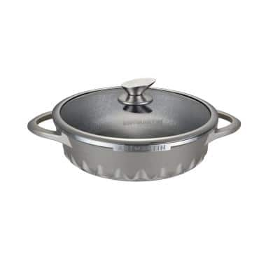 11 in. Artmartin Sauce Pan and Glass Lid Non-Stick Ceramic Coated Pot, Induction Bottom