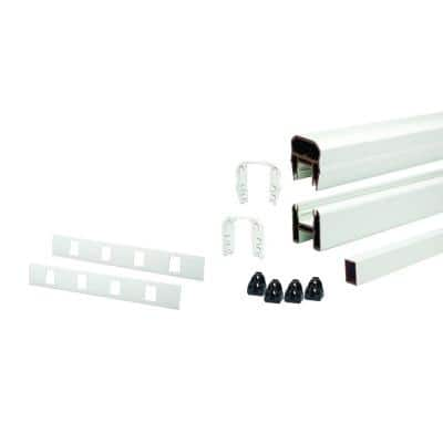 Trex 67.5 in. x 36 in. Rail Kit Transcend Classic White with Classic White Composite Balusters-Horizontal
