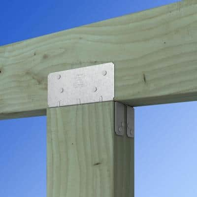 LPC ZMAX Galvanized Adjustable Post Cap for 6x Nominal Lumber