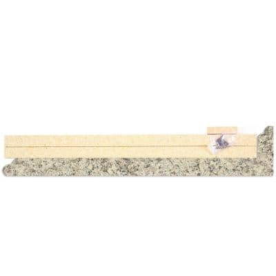 4-5/8 in. x 25-5/8 in. Laminate Endcap Kit in Typhoon Ice with Full Wrap Ogee Edge