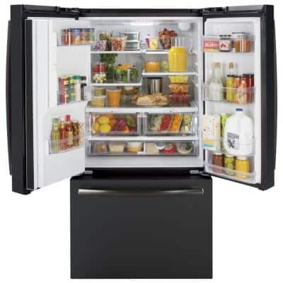 25.6 cu. ft. French-Door Refrigerator in Black Slate, Fingerprint Resistant and ENERGY STAR