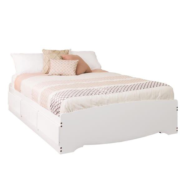 Prepac Monterey Full Wood Storage Bed, White Twin Storage Bed Canada