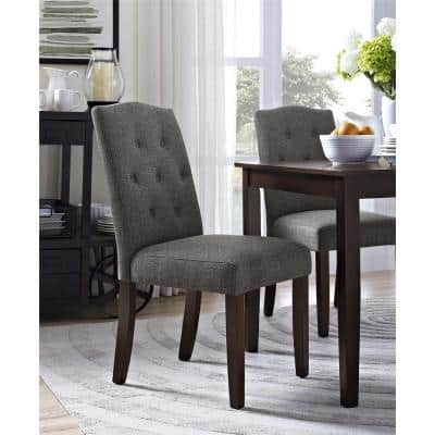 Bethany Gray Parsons Upholstered Tufted Dining Chair