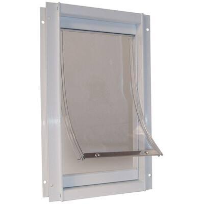10.5 in. x 15 in. Large Deluxe Aluminum Frame Dog and Pet Door