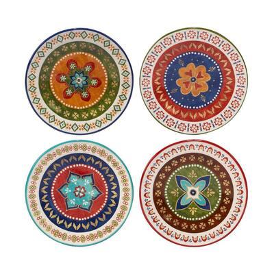 Monterrey 8.75 in. Multi-Colored Dessert Plate (Set of 4)