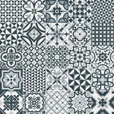 Heritage Black 6.5 in. x 6.5 in. Glazed Porcelain Floor and Wall Tile (5.92 sq. ft. / case)