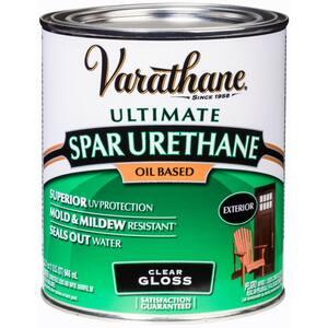 1-qt.Clear Gloss 275 VOC Oil-Based Exterior Spar Urethane (2 Pack)
