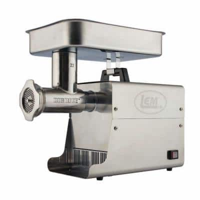 Big Bite Grinder #22 1 HP Stainless Steel Electric Meat Grinder
