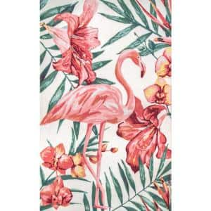 Stephanie Floral Multi 5 ft. x 8 ft. Indoor/Outdoor Area Rug