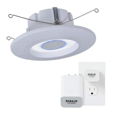 RL56 Series 5 in./6 in. Tunable CCT Smart Alexa Voice Integrated LED Recessed White Trim with Bridge by HALO Home