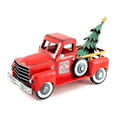 9.5 in Christmas Truck with Christmas Tree