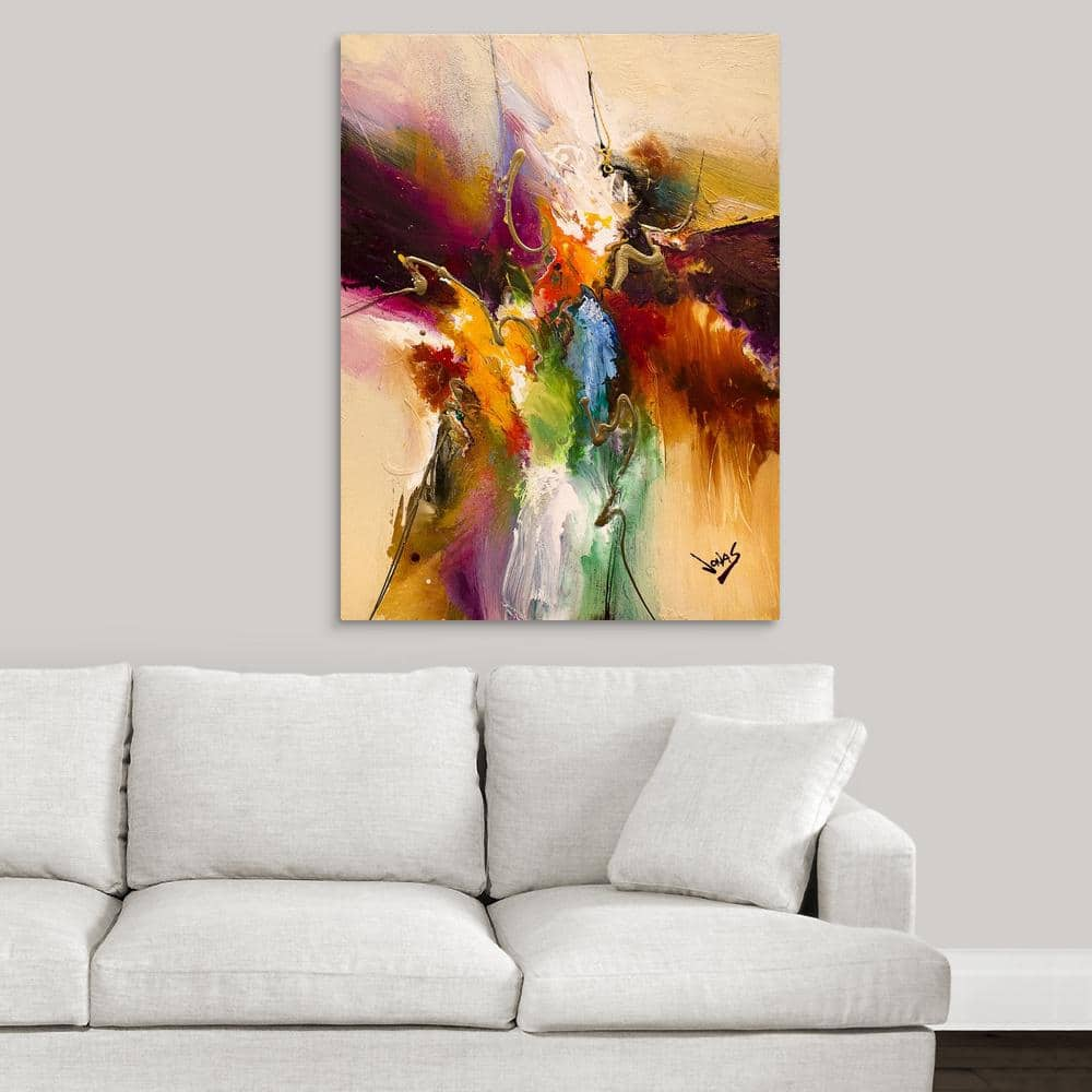 Greatbigcanvas Flow 180 By Jonas Gerard Canvas Wall Art 2448654 24 30x40 The Home Depot