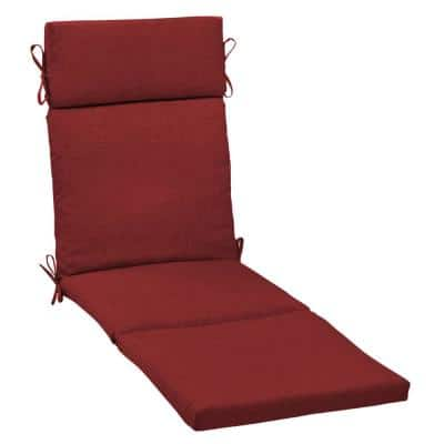 21 in. x 29.5 in. Outdoor Chaise Lounge Cushion in Ruby Leala Texture