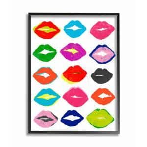 16 in. x 20 in. ''Colorful Kiss Fashioner Pattern Painting'' by June Erica Vess Framed Wall Art