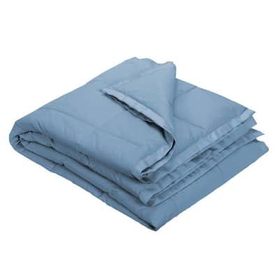 LaCrosse LoftAIRE Down Alternative Porcelain Blue Cotton Throw Blanket