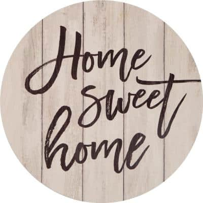 """Home Sweet Home"" Oversized Washed White Wood Wall Decor"