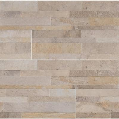 Canyon Cream Ledger Panel 6 in. x 24 in. Matte Porcelain Wall Tile (11 sq. ft. /Case)