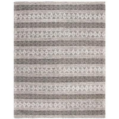 Natura Silver 8 ft. x 10 ft. Abstract Area Rug