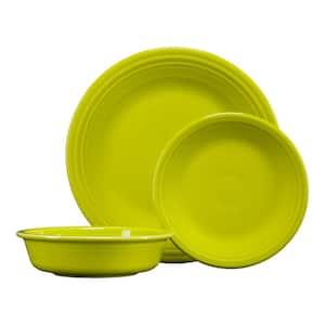 3-Piece Casual Lemongrass Ceramic Dinnerware Set (Service for 1)