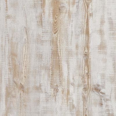 5 in. W x Multi-Length Weathered Birch Peel and Stick Vinyl Wall Plank (20 sq. ft./case)
