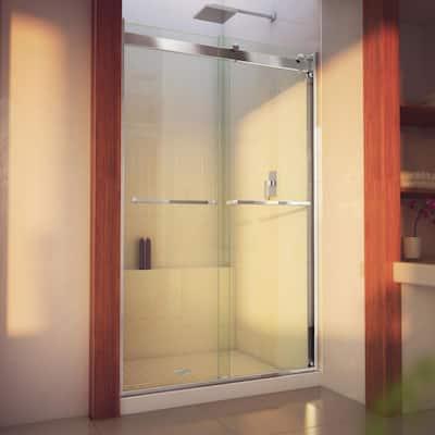 Essence-H 44 to 48 in. x 76 in. Semi-Frameless Bypass Sliding Shower Door in Chrome