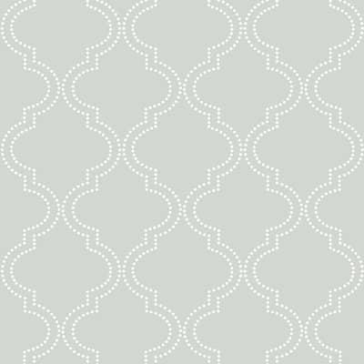 Grey Quatrefoil Grey Wallpaper Sample