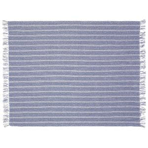 4 Ft. 2 in. x 5 Ft. Blue Cotton Throw