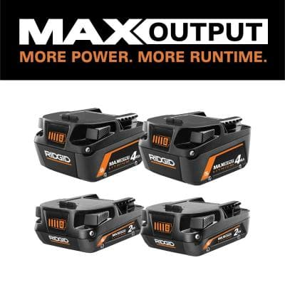 18V Lithium-Ion MAX Output (2) 4.0 Ah Batteries and (2) 2.0 Ah Batteries