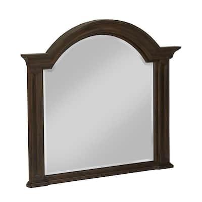 Large Rectangle Burlap Classic Mirror (41 in. H x 49 in. W)