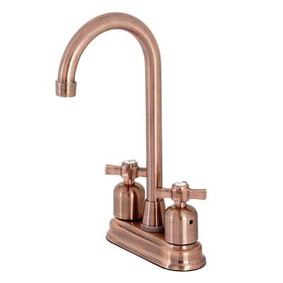 Millennium 2-Handle Bar Faucet in Antique Copper