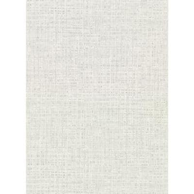 Montgomery Off-White Faux Grasscloth Vinyl Strippable Roll (Covers 60.8 sq. ft.)