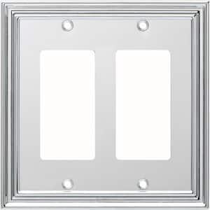 Chrome 2-Gang Decorator/Rocker Wall Plate (1-Pack)