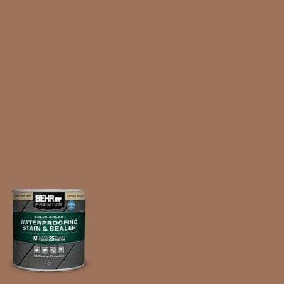 8 oz. #SC-152 Red Cedar Solid Color Waterproofing Exterior Wood Stain and Sealer Sample