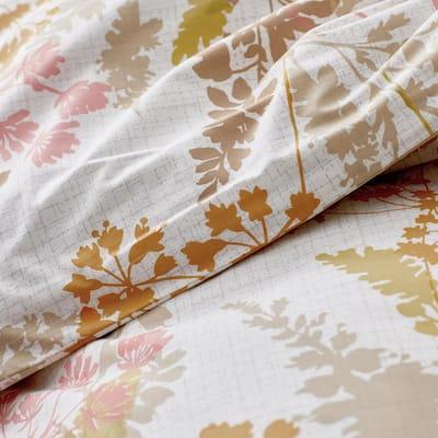 Company Cotton Florescence Multi-Colored Cotton Percale Duvet Cover