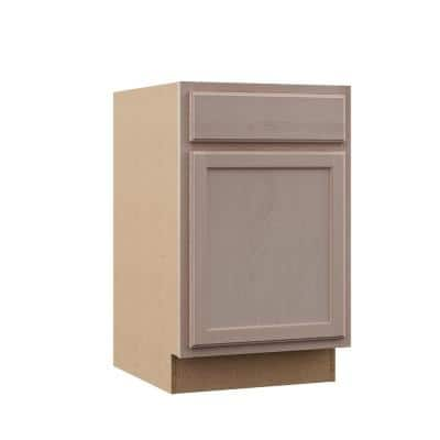 Hampton Assembled 21x34.5x24 in. Base Cabinet in Unfinished Beech
