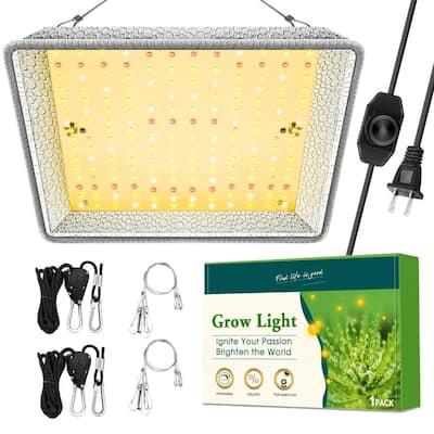 12 in. 100-Watt Equivalent Silver Dimmable Light Full Spectrum LED Plant Grow Light Fixture