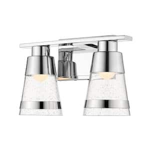 Galati 8-Watt Chrome Integrated LED Bath Light