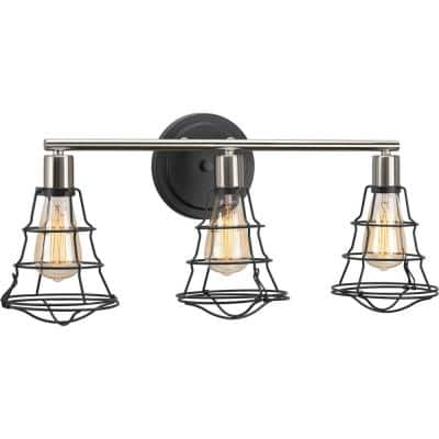 Gauge Collection 3-Light Graphite Farmhouse Bath Vanity Light