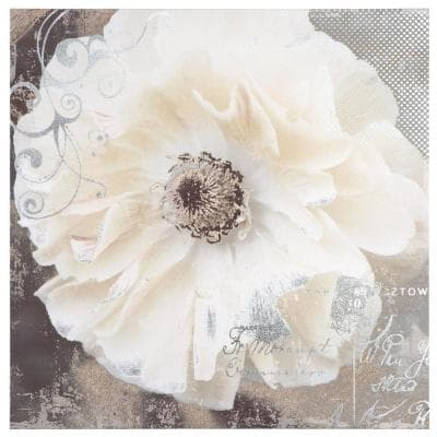 """20 in. x 20 in. """"Blooming Softly I"""" Printed Contemporary Artwork"""