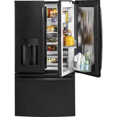27.8 cu. ft. French Door Refrigerator with Door-in-Door in Black Slate, Fingerprint Resistant