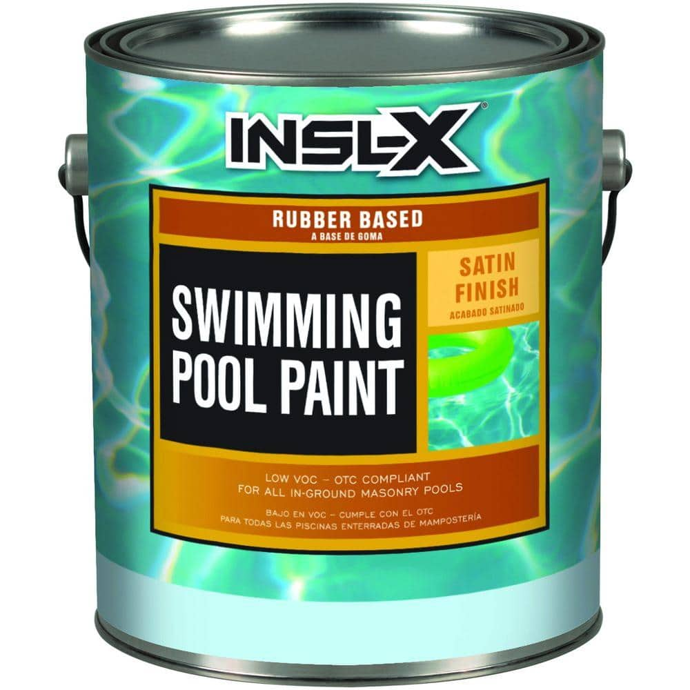 Insl X 1 Gal Satin Rubber Based White Swimming Pool Paint Rp2710 The Home Depot