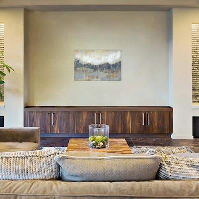 """Cool Grey Horizon I"" by Jennifer Goldberger Canvas Wall Art"