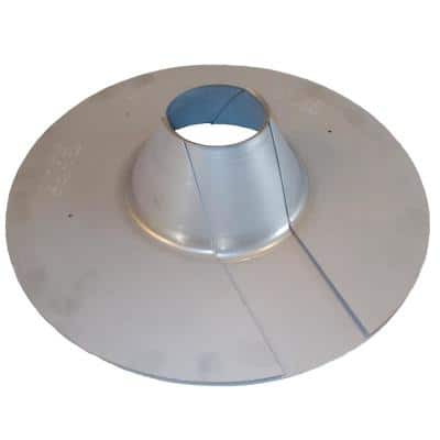 """All Style Retro-Spin Galvanized Steel Roof Flashing for 2.5"""" (2 7/8"""" OD) maximum Electric Service Mast Conduit Pipe"""