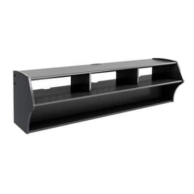 Altus 58 in. Black Composite Floating Entertainment Center Fits TVs Up to 60 in. with Wall Mount Feature