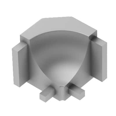 Dilex-AHK Satin Anodized Aluminum 1/2 in. x 1 in. Metal 90 Degree Inside Corner